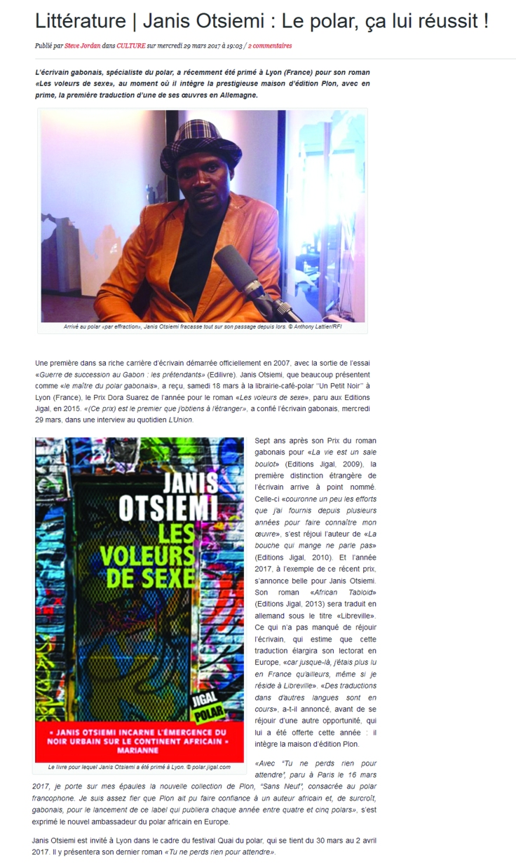 Dora Suarez presse Gabon review