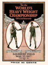 Affiche Match boxe Dempsey TunneyII