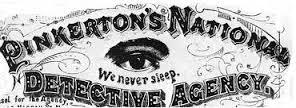 Logo Pinkerton dans Mascarade de Ray Celestine